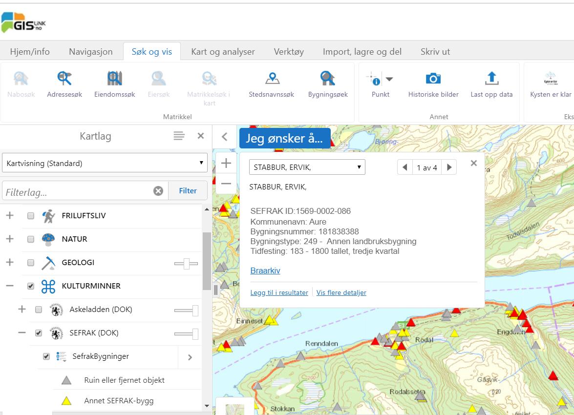 Integrasjon arkiv GIS-Link
