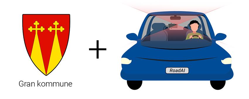 Gran kommune logo med Road AI